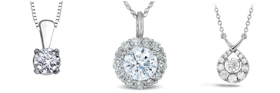 Three diamond pendants