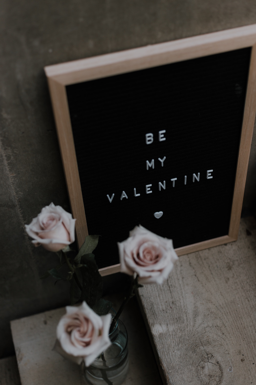 Pink-Roses-Vase-Letter-Board-Be-My-Valentine